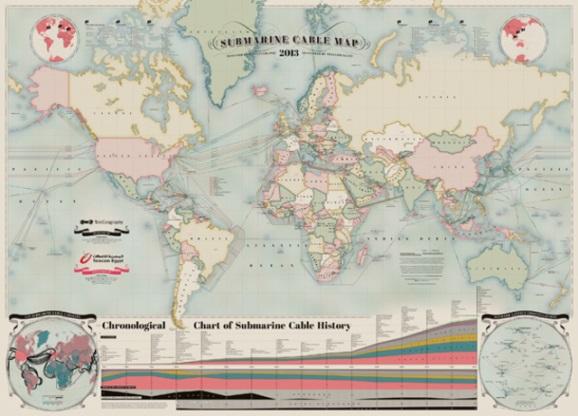 """《TeleGeography发布2013版""""海底光缆地图""""(附下载)》"""